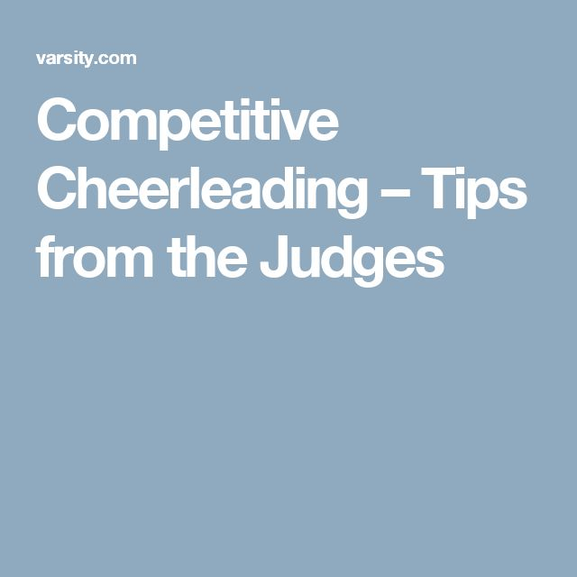 Competitive Cheerleading – Tips from the Judges