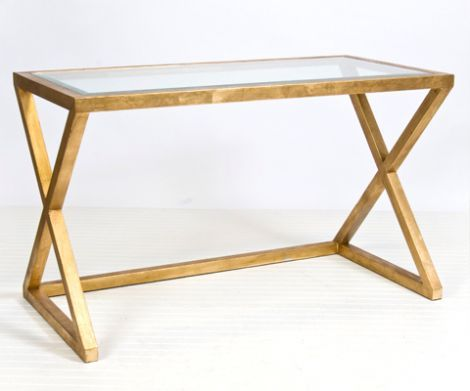 Mark Console and Desk - Gold Leaf