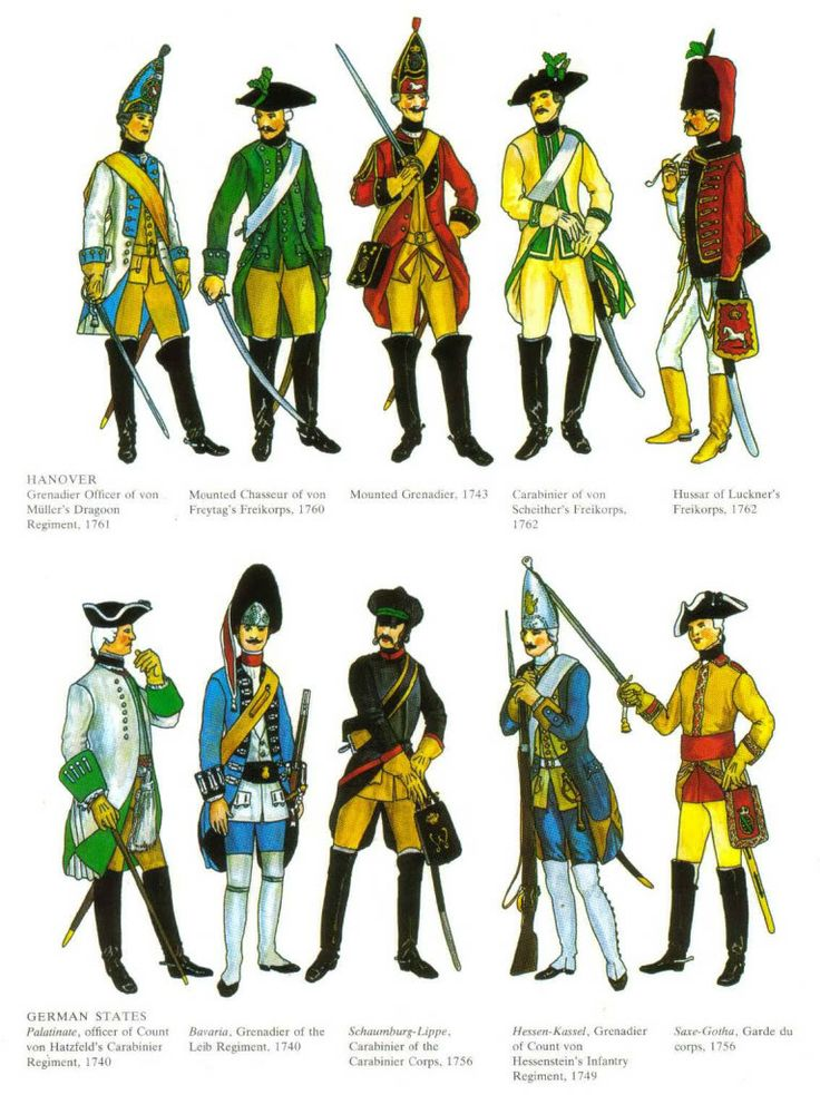 Austrian and Prussian Military uniforms 18th century 1955974