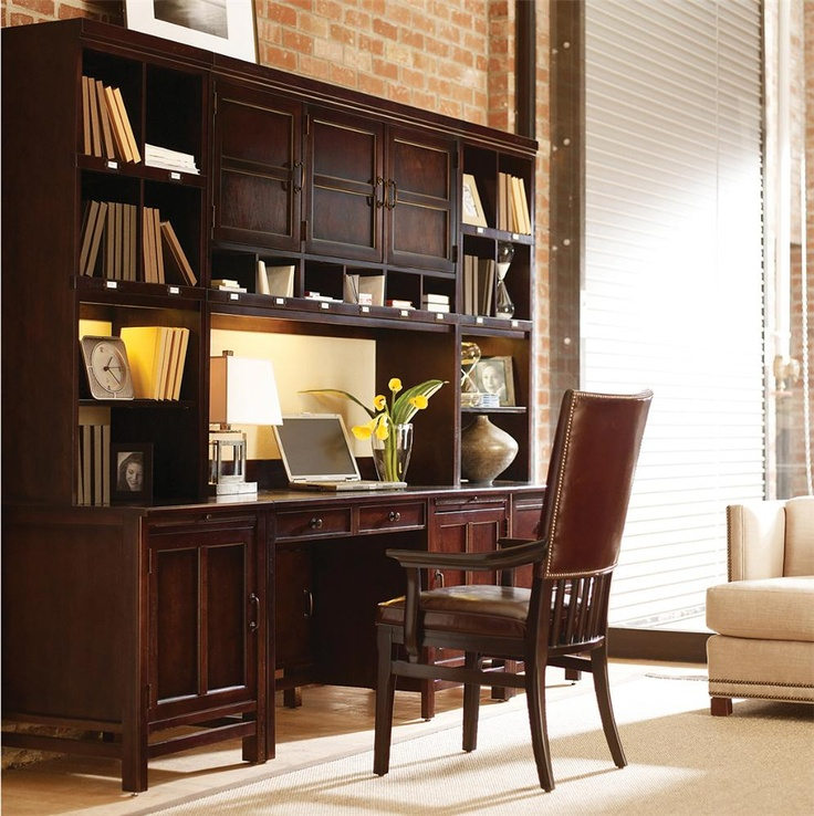 modern craftsman furniture. modern craftsman door desk with two cabinets and three hutches by stanley furniture