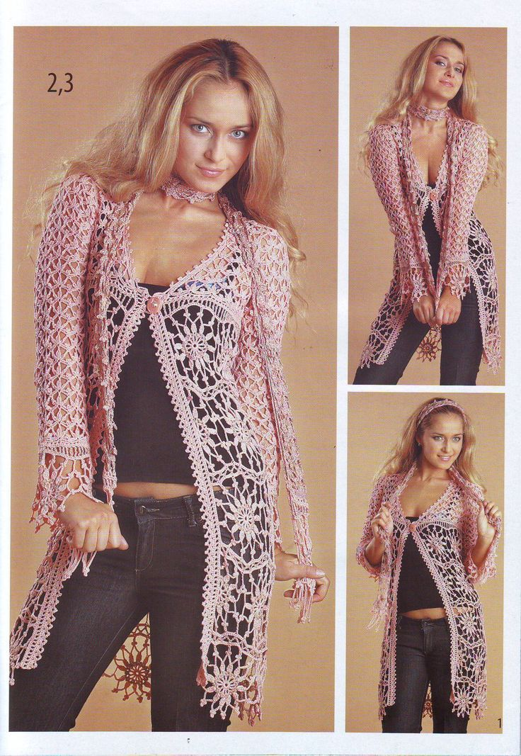 Pattern: Long Crochet Cardigan and Scarf