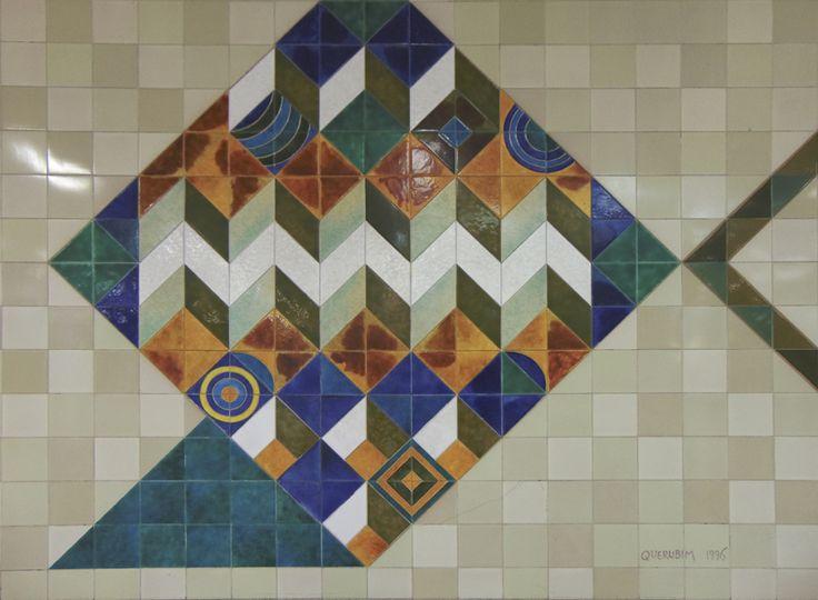 Querubim Lapa | Estação / Station Bela Vista | Metropolitano de Lisboa / Lisbon Underground | 1998 #Azulejo #AzulejoDoMês #AzulejoOfTheMonth #QuerubimLapa #MetroDeLisboa #Lisboa #Lisbon