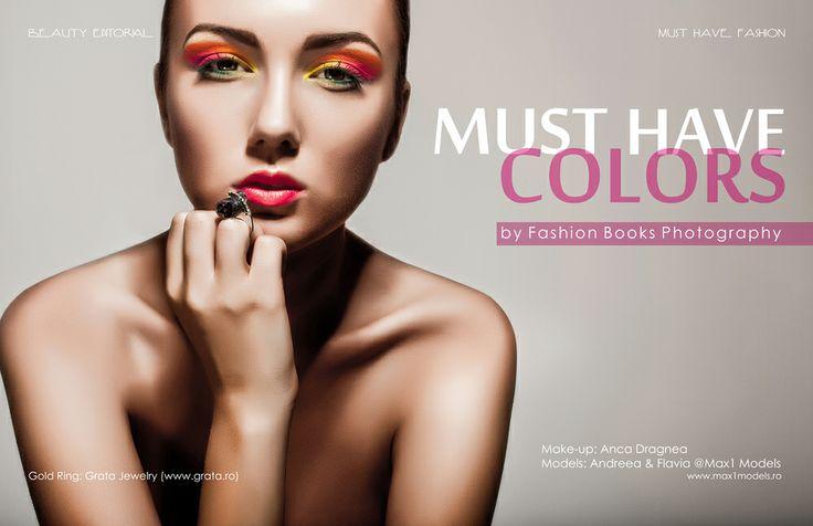 Sedinta foto in studio Constanta - Editorial Beauty www.fashionbooks.ro  MUA: Anca Dragnea Model: Andreea - Max1 Models