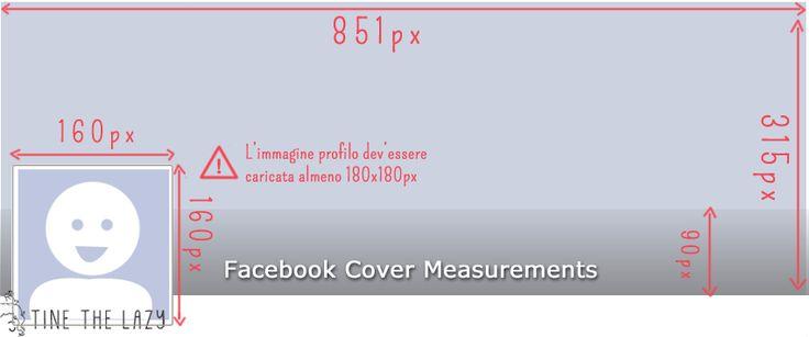 Nuovo look di Facebook: guida alle misure di cover e icona profilo