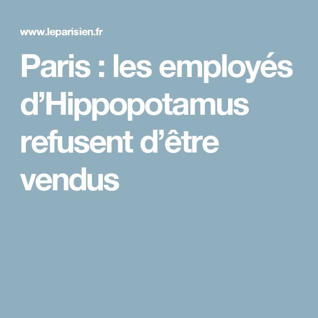 Paris : les employés d'Hippopotamus refusent d'être vendus