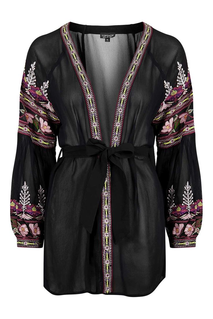 Floral Embroidered Robe Embroidery We Love