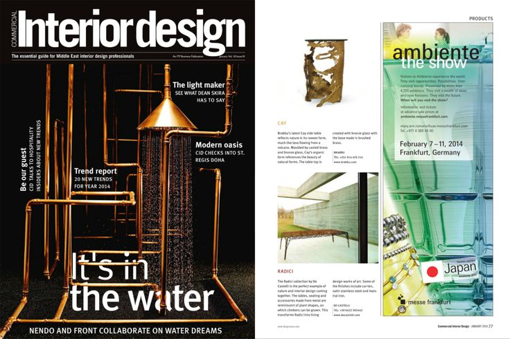 BRABBU In Commercial Interior Design Magazine UAE CAY Side Table Brabbu En Art Cay Tablephp