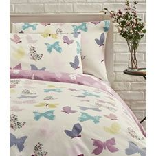 Snuggle up in #style with this #gorgeous #butterfly double #duvet set. Part of the Reminisce collection, this #stylish, #chic and #homely #bedding feels and looks like you've stepped into a #beautiful #fresh #meadow with  a #floral and #butterfly pattern in a #palette of #soft #pastels