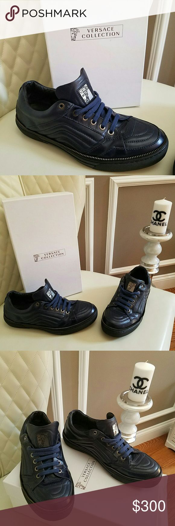 Men's Versace Sneakers Leather Shoes Size 9 EU 42 Brand new Versace men's sneakers size 9 EU 42 Retail price  $450 Versace Shoes Sneakers