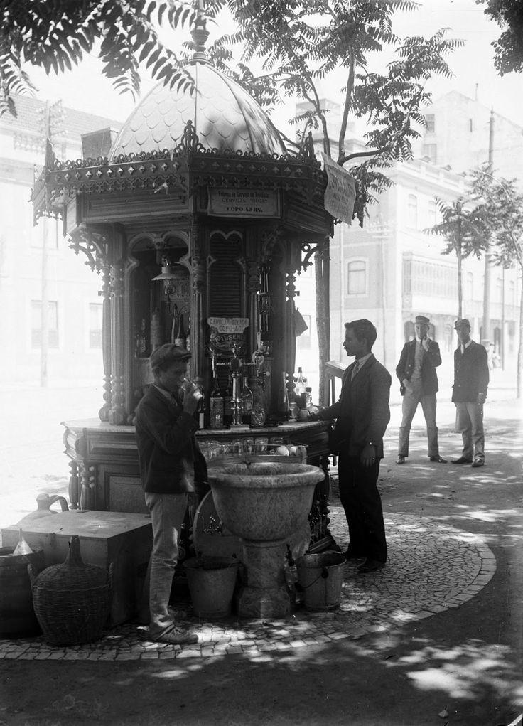 Quiosque na Praça do Principe Real, Lisboa 1908