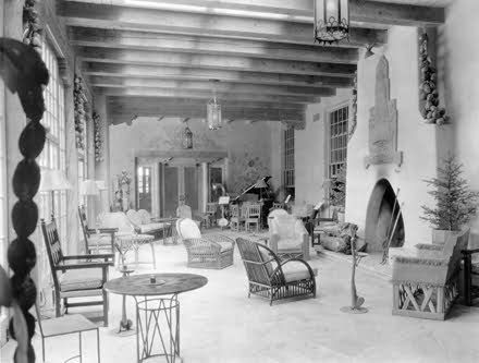 La Fonda Hotel, Santa Fe, NM. Built by the Santa Fe Railroad, managed by the Fred Harvey Company and decorated by Mary Jane Colter.