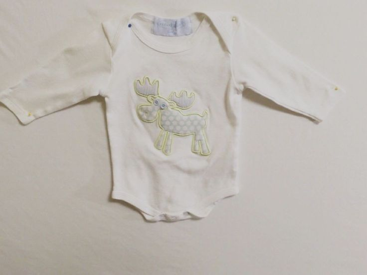 Mud Pie Baby Boy 0-6 Months Onsey White 100% Cotton Layette Long Sleeve  #MudPie #Everyday