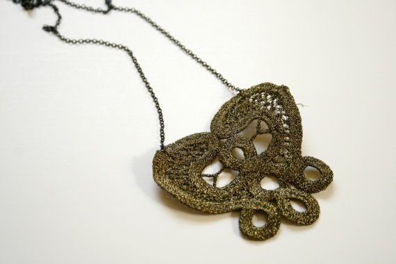 Victoria lace necklace / limited edition by ganbayo on Etsy, $17.00