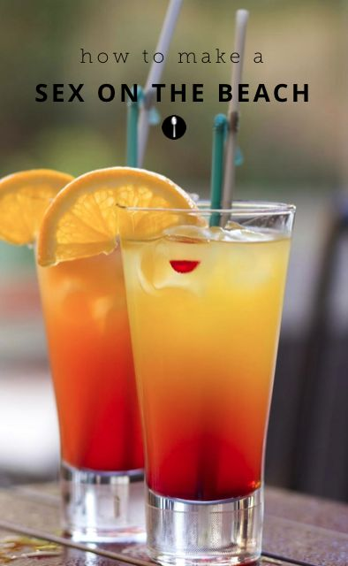 How to make a sex on the beach cocktail.
