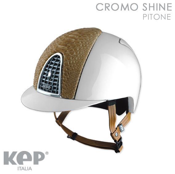CAP EQUITAZIONE CROMO SHINE PITONE DI KEP ITALIA