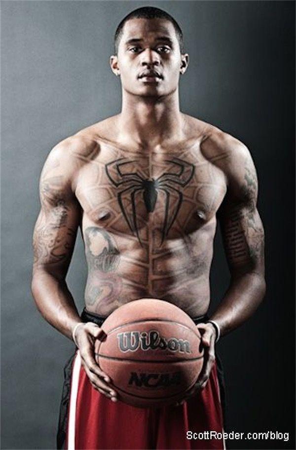 Spiderman chest tattoo - Anyone can be Spiderman! #TattooModels #tattoo