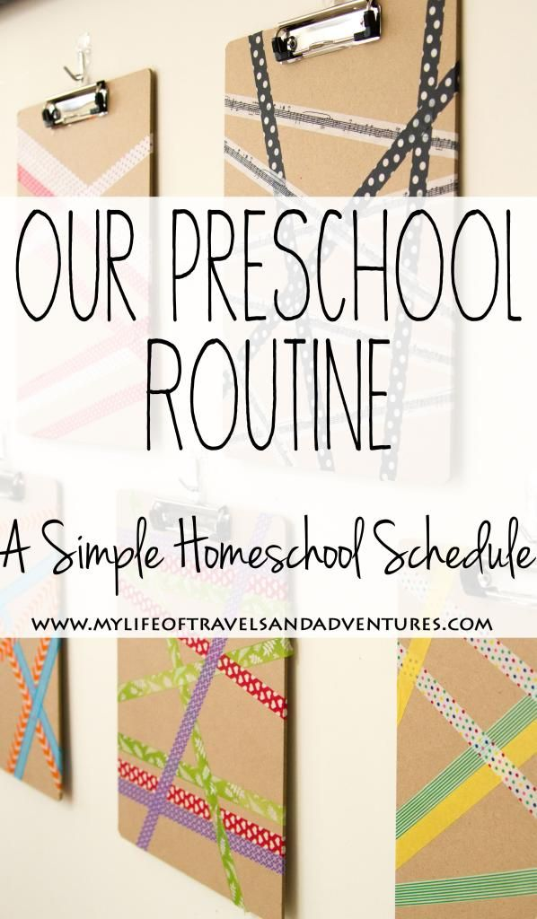 Our Preschool Routine: A Simple Homeschool Schedule