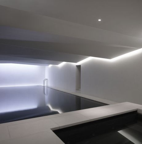 Private indoor pool and spa in Ireland by architect Carmody Groarke_