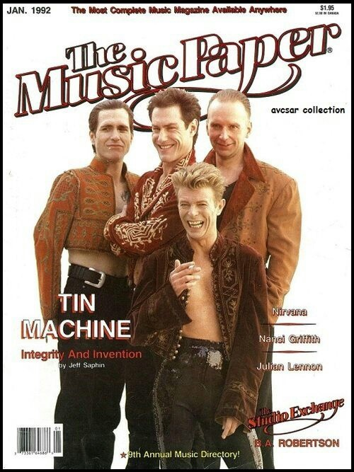 Tin Machine - ah the fun times had on this tour! I don't care what anyone says they ROCKED!!