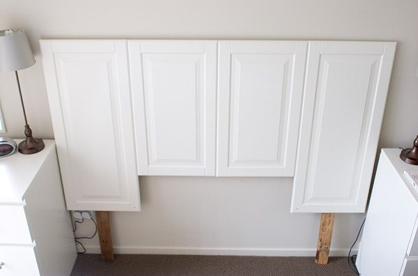 Cabinet Door Headboard - OHHHH this makes me see cabinet doors in a whole new way! Look out ReStore!