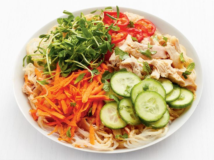 Get this all-star, easy-to-follow Peanut Noodle Bowls with Chicken recipe from Food Network Kitchen