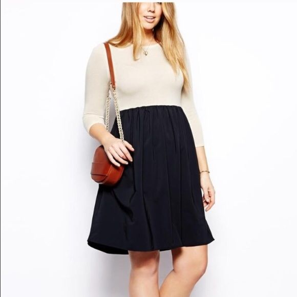 ASOS Curve dress New with tags. Bodice: 100% acrylic. Skirt: 95% polyester, 5% elastane. ASOS Dresses Midi