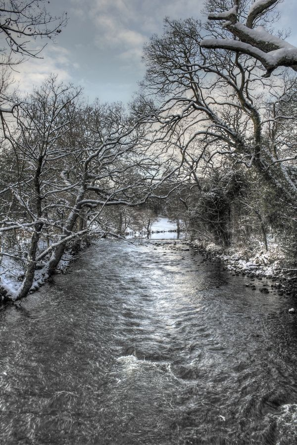 River Aire, Bingley, Yorkshire, England