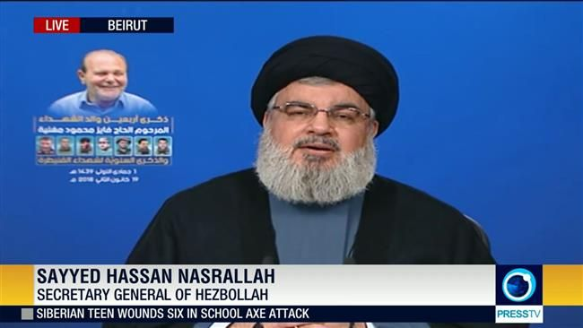 """The United States plans to keep its military deployment in Iraq and Syria under the pretext of preventing the return of the terrorists. This is while the entire world knows it was the US administration that created the Takfiri group,"" Nasrallah also commented."