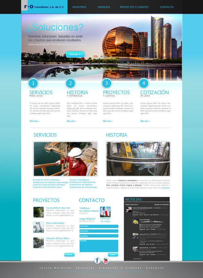Propuesta de Diseño de Interfaz Web para Consultoría, diseño y construcción de obras de Ingeniería civil, con el propósito de proyectar un mayor profesionalismo, calidad en el servicio y recibir un mayor número de  solicitudes de consultoría por teléfono y su nuevo Sitio Web.  http://janikmac.com/portafolio/diseno-interfaz-web-consultoria/