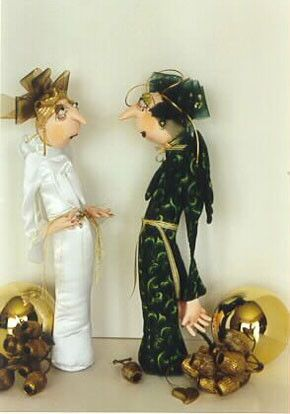 Jan Horrox Cloth Doll and Textile Supplies — Mildred and Flossie by Jill Maas