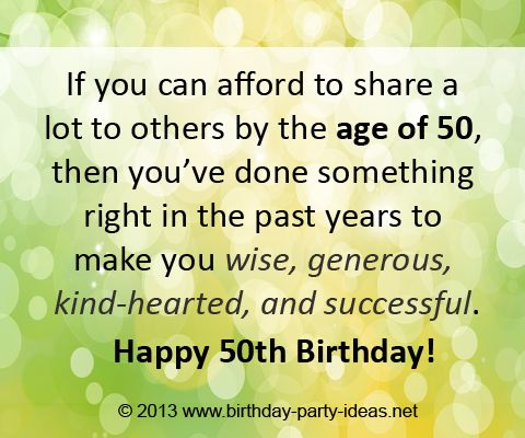 33 best 50 and fabulous images on pinterest birthday wishes 50th birthday quotes if you can afford to share a lot to others by the m4hsunfo Gallery