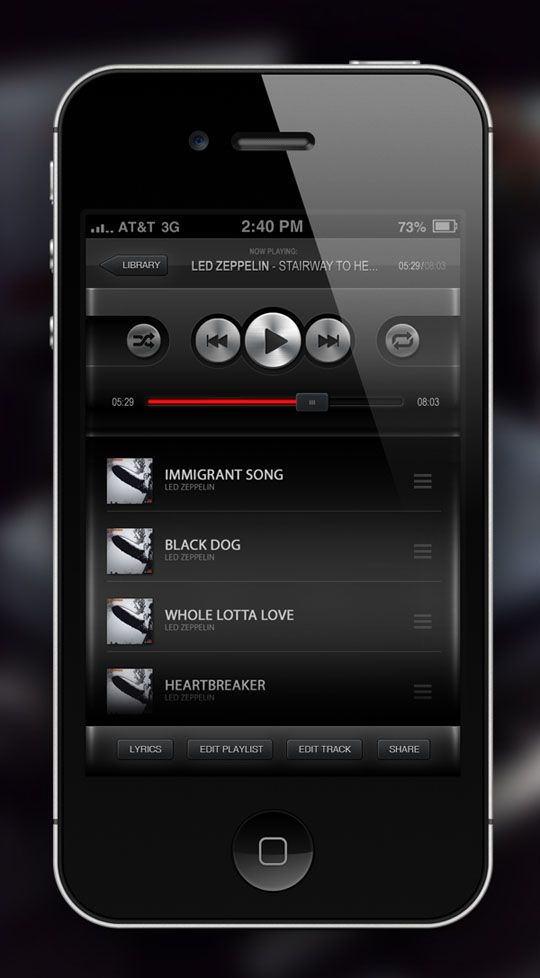 26 New Attractive User Interface Designs For iPhone Apps   Design Inspiration