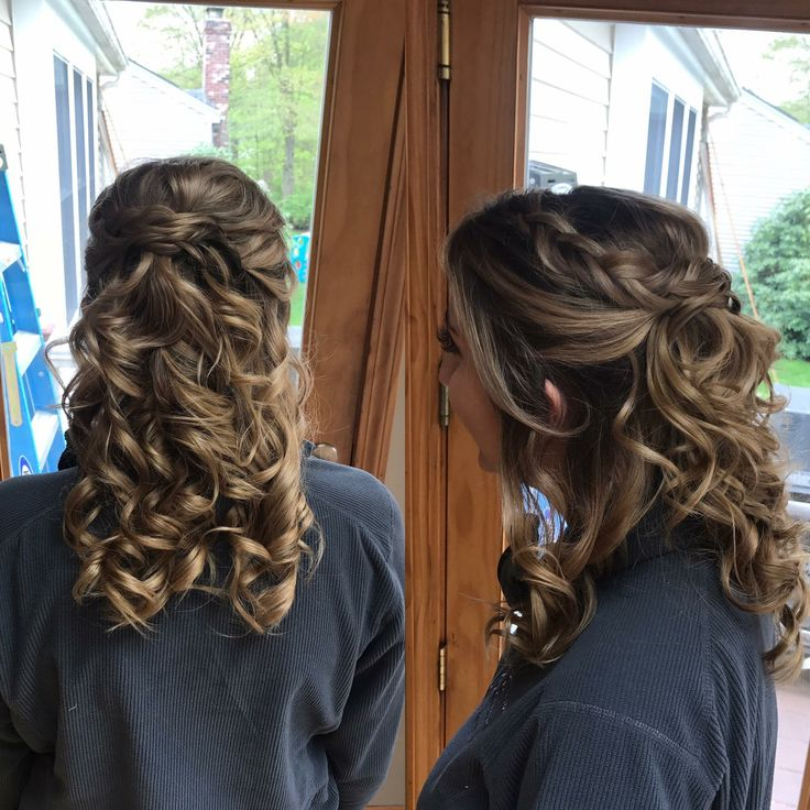 Prom hair, Prob Season, Media Brown Hair, Curls, Updo by ...