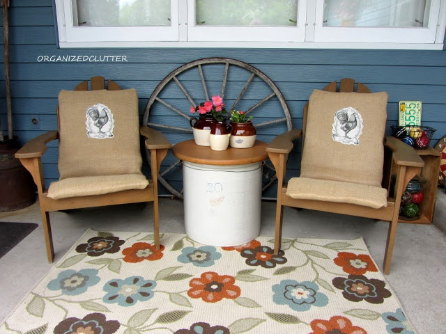 Organized Clutter: Decorating a Covered Patio with Vintage Collections