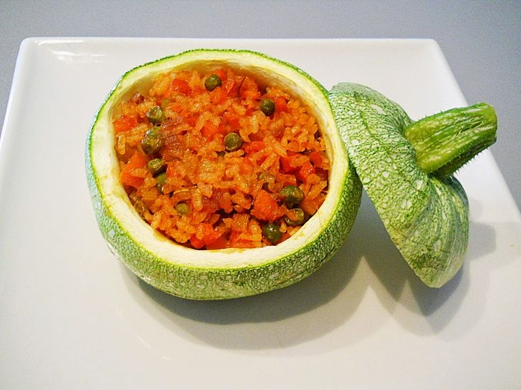 stuffed zucchini with vegetables rice