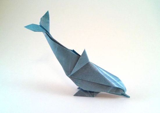 Origami Dolphin by Gerard Ty Sovann folded by Gilad Aharoni