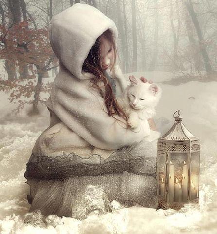 Схема вышивки «девочка с котёнком 1» - Схемы вышивки - ElenaMironenko - Авторы - Портал «Вышивка крестом»