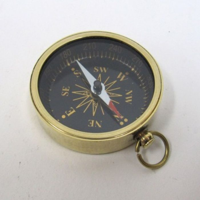 Opentip.com: India Overseas Trading BR48852B - Solid Brass Pocket Compass