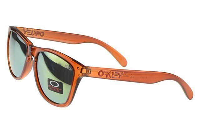 Lifestyle Oakley Frogskin Sunglasses orange Frame blue Lens#Oakley Sunglasses