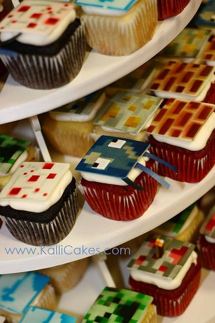 Minecraft cupcakes!  This bakery operates out of Ohio and makes some GORGEOUS STUFF.
