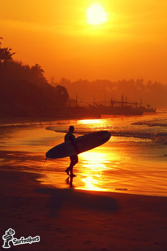 Sunset in Weligama. surf, surfing, surfer, waves, ocean, life, sunset #srilanka #weligama  #surfing #surf #surfer #waves  #ocean #sunset