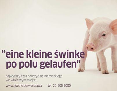 "Check out new work on my @Behance portfolio: ""Eine kleine Swinke - Goethe-Institute campaign"" http://on.be.net/1MGwC9C"