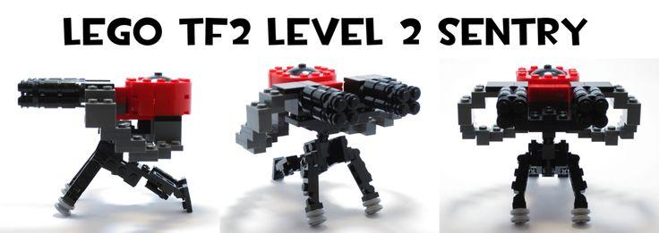 Lego TF2 Level 2 Sentry by HybridAir on DeviantArt #tf2 #gaming #teamfortress