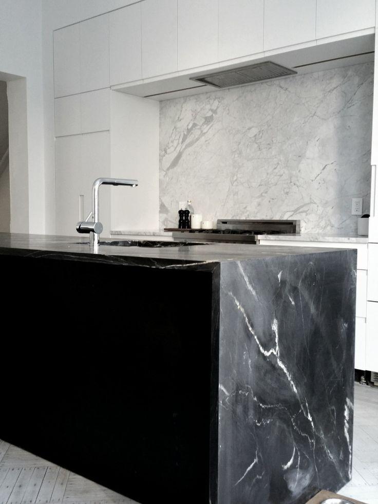Black & White minimalist contemporary design straight lines