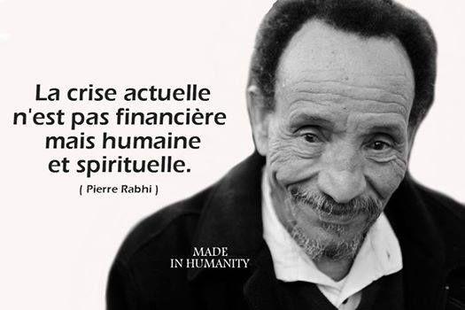 La crise actuelle n'est pas financière mais humaine et spirituelle.