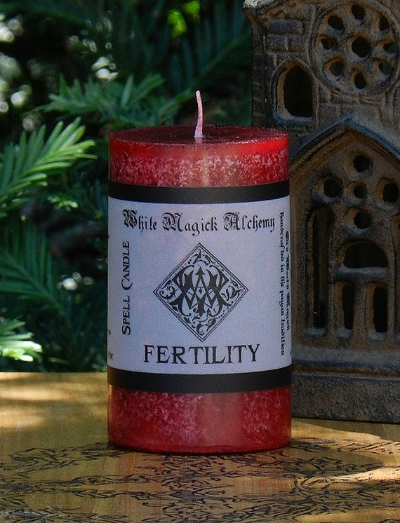 FERTILITY Spell Candle . Fertility Purity by WhiteMagickAlchemy, $9.95