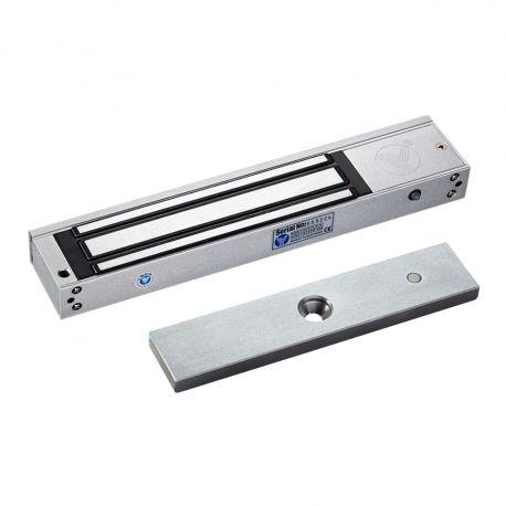 Electromagnet de forta aplicat YM-280T(LED). Electromagnetul de forta YM-280T(LED) se monteaza aplicat la usi din lemn, metal, termopan, sticla, usi anti-foc  Utilizare: in sisteme de control acces,  Retentie: 280 kgf Consum: 480mA la 12Vcc - 240mA la 24Vcc Marime: 252x43x25 mm Marime contraplaca: 180 x 38 x 11 mm