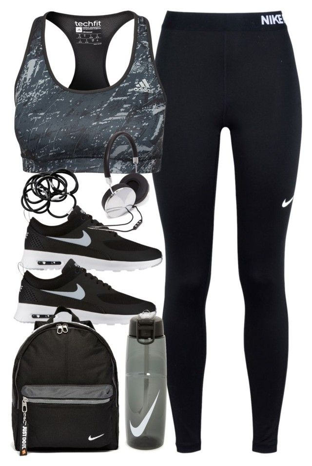 """Outfit for the gym"" by ferned on Polyvore featuring NIKE, adidas, H&M and Forever 21"