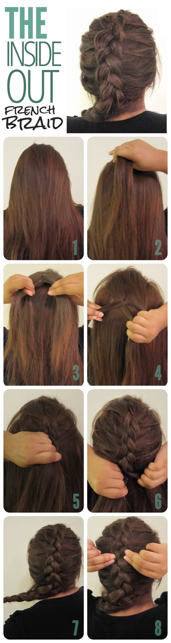 Surprising 1000 Ideas About Inside Out French Braid On Pinterest French Short Hairstyles Gunalazisus