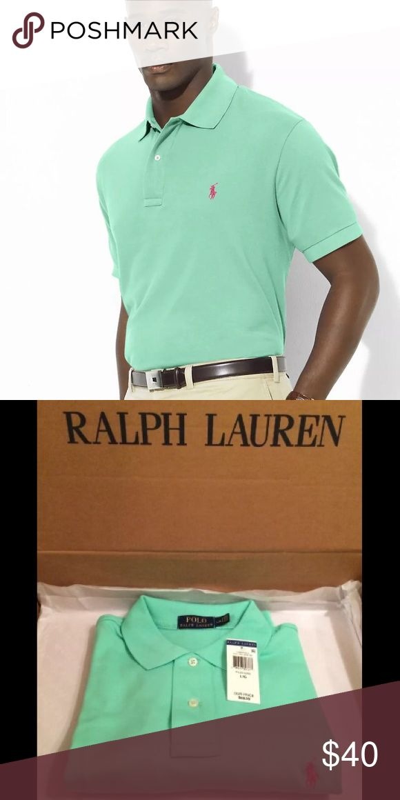 Polo Ralph Lauren Pima Soft Touch The Pima Soft-Touch Polo Shirt has been specially treated to give it a lustrous, refined appearance and an ultra-soft feel. It is slightly more relaxed than Custom Fit but more trim-fitting than Classic Fit. Ribbed polo collar. Two-button placket. Short sleeves with ribbed armbands. Tennis tail. Signature embroidered pony at the left chest.  Available Colors: Light Orange (Green Logo), Tyler Green (Pink Logo), Blue (Purple Logo) Material: 100% Cotton Retail…